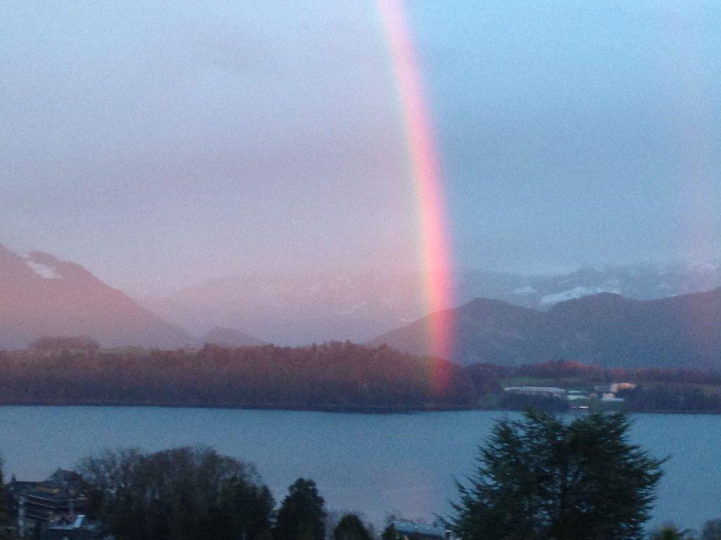 Regenbogen über dem Vierwaldstättersee