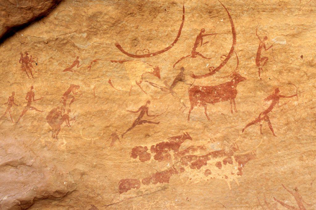 Höhlenmalerei aus Algerien
