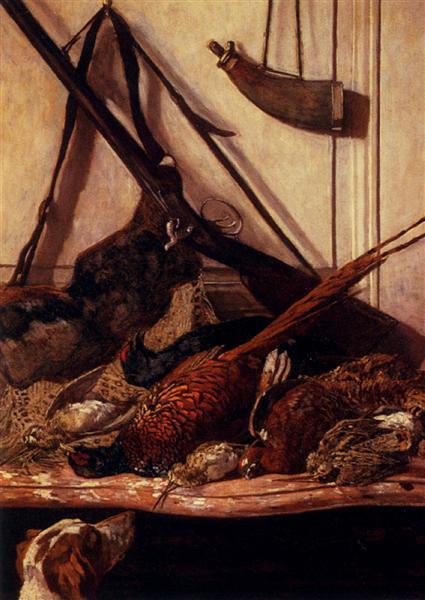 Jagdtrophäen, Claude Monet, 1862
