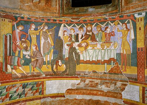 romaisches Fresco, Kloster St. Johann Muenster, Graubünden
