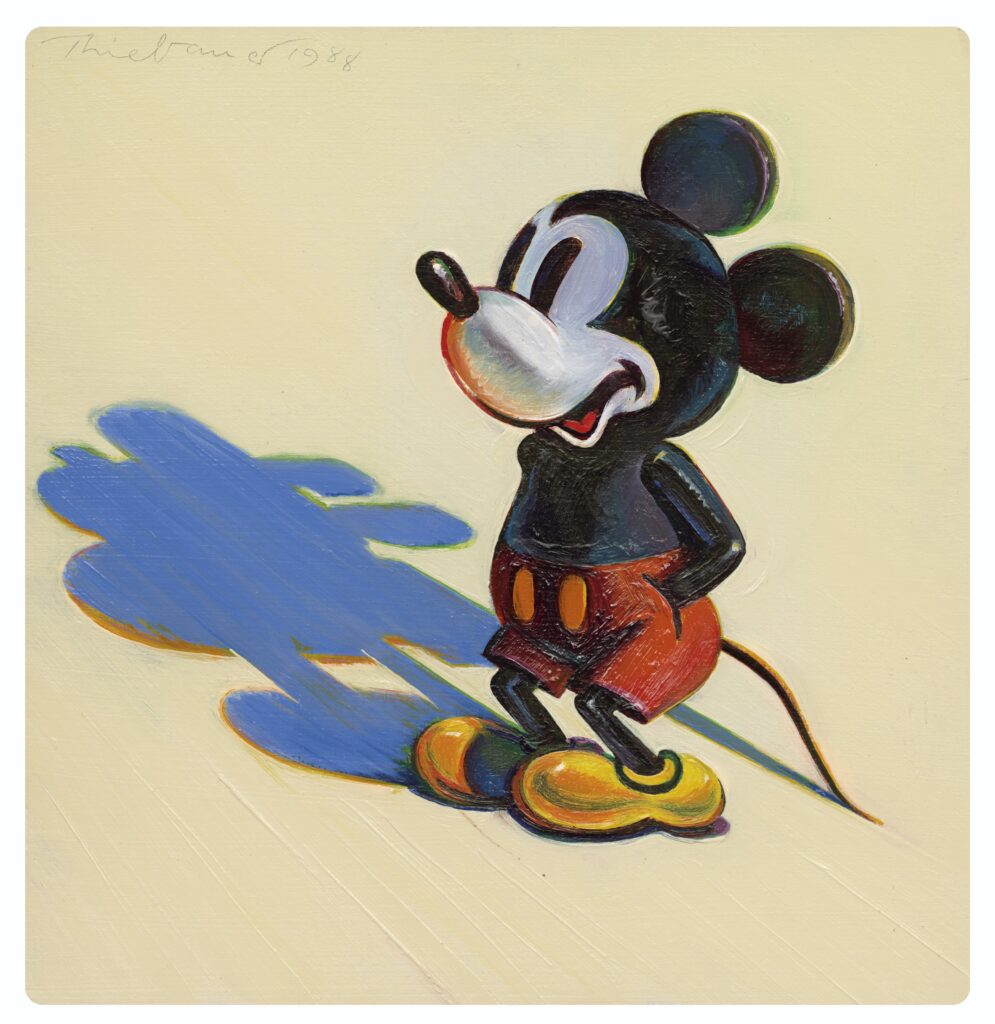 Mickey Mouse, 1980, Wayne Thiebaud