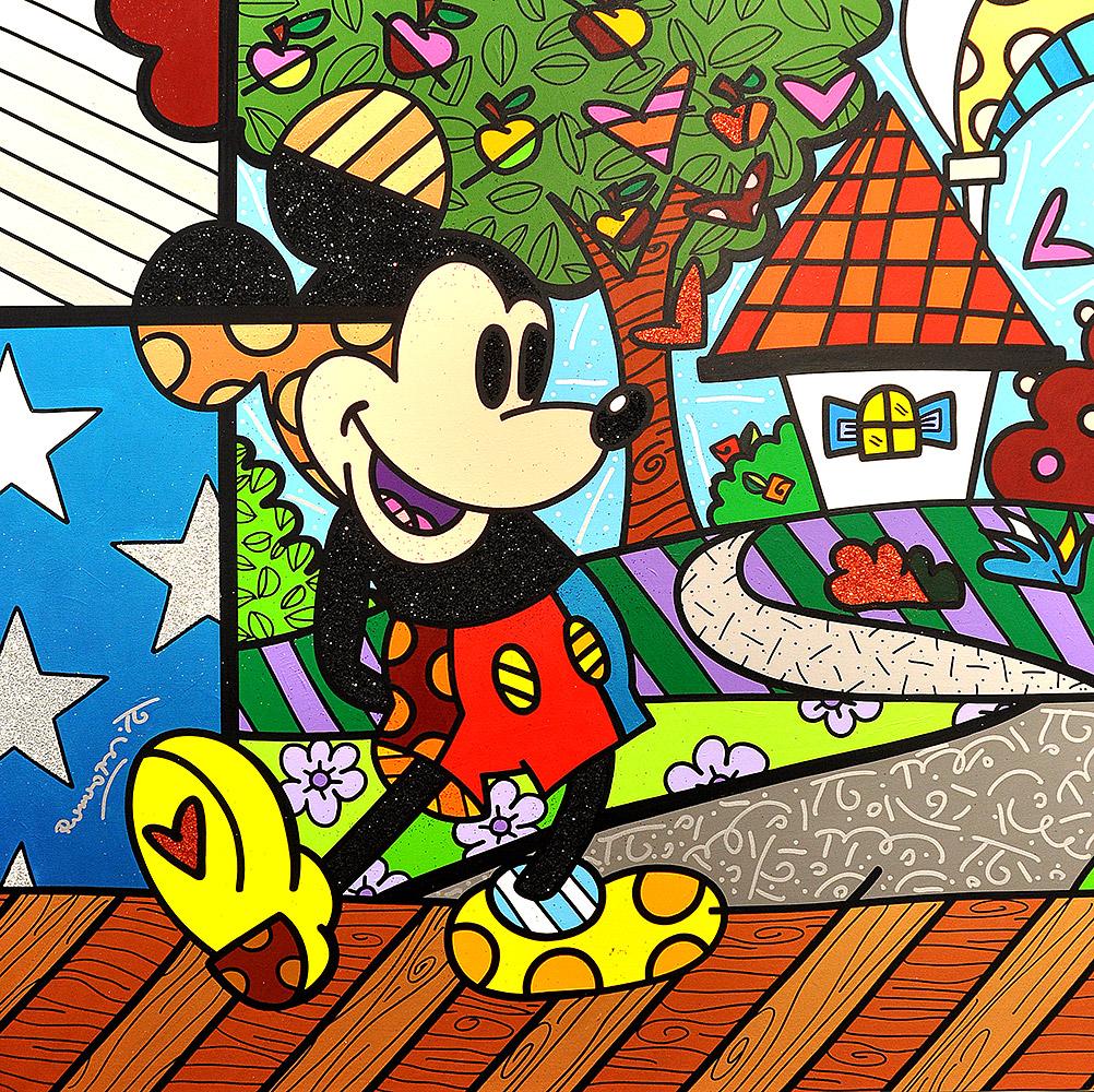 Mickey Mouse, Romero Britto, Galerie Mensing,