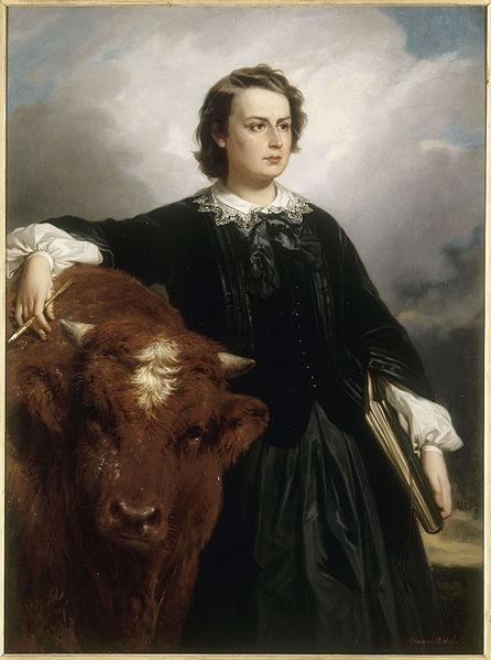 https://de.m.wikipedia.org/wiki/Datei:Rosa_Bonheur_with_Bull_,_by_E_L_Dubufe.jpg