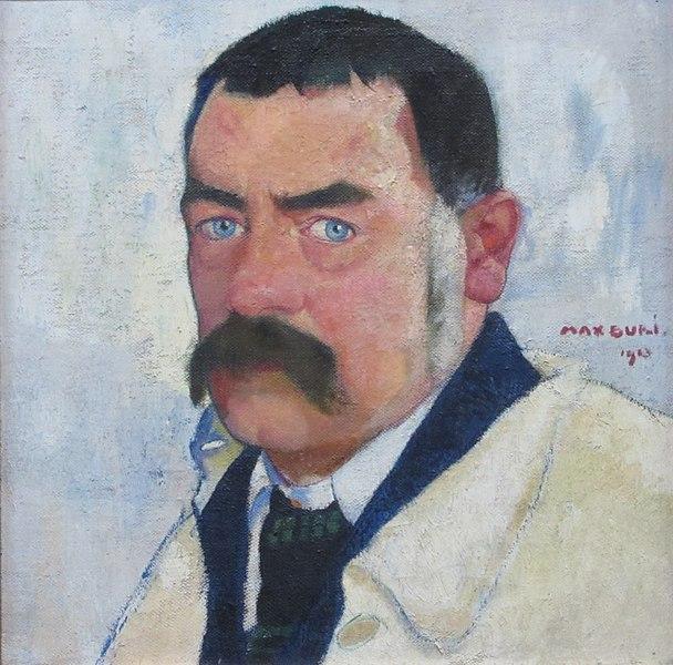 https://commons.wikimedia.org/wiki/File:Max_Buri_-_Selbstbildnis_mit_aufgestelltem_Rockkragen,_1913.jpg
